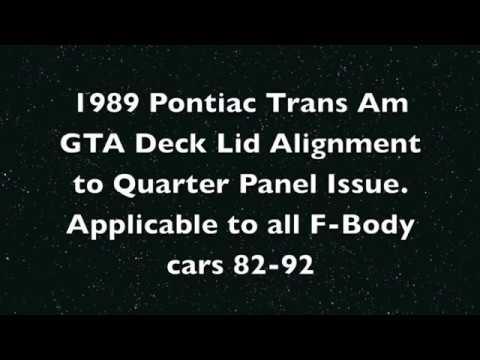 1982-1992 F-body Deck Lid Alignment