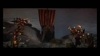 Kirk Douglas (Einar) viking funeral
