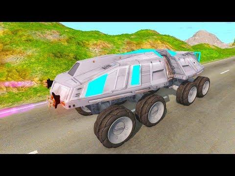 Летающие большие машины БТР и Марсоход - Мультики про машинки 2019 года - Видео онлайн