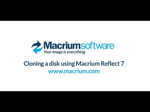 Cloning a disk using Macrium Reflect 7