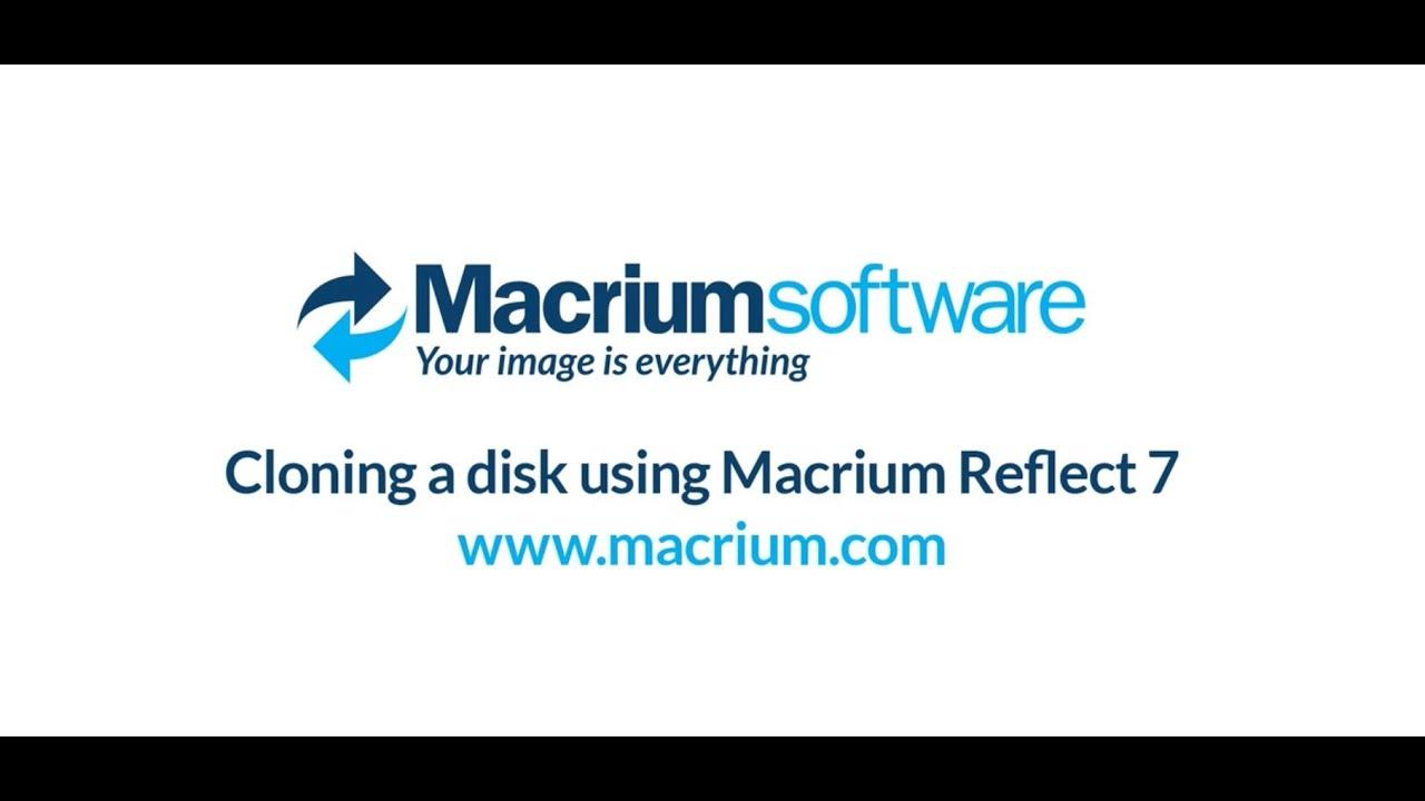 Cloning a disk using Macrium Reflect 7