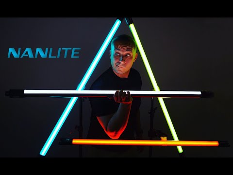 Incredible RGB+W LED Tube Lights For Photography And Video! Nanlite PavoTube - First Impressions