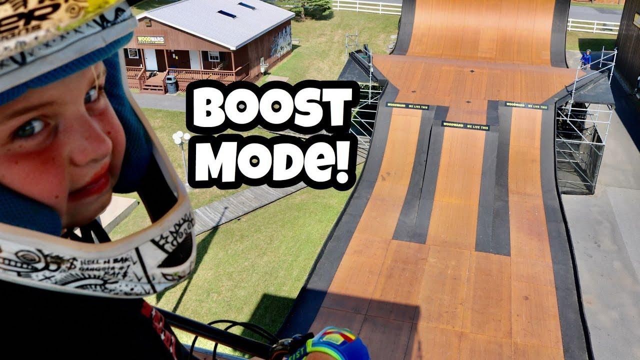 Full Send Jumping The Mini Mega Ramp Woodward East Pennsylvania Youtube Backyard mini mega ramp