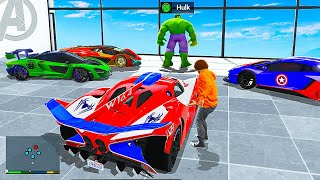 Stealing Rare SUPERHERO Cars In GTA 5 RP!