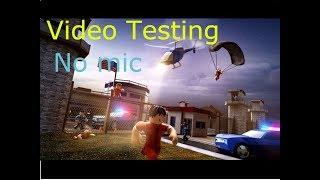 Testing esc. ( Screen recorder testing) No mic... Roblox screen recorder.