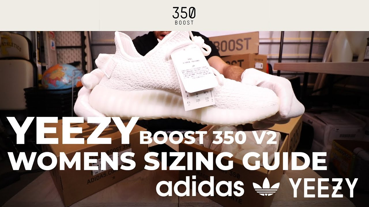 detailed look 5178d 3c353 Adidas Yeezy Boost 350 V2 Women's Sizing Guide - What Size Yeezy's to Buy  for Girls in Mens