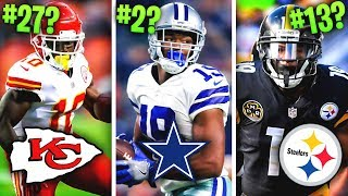 Ranking all 32 NFL Teams' Best Wide Receiver for 2019 from WORST to FIRST
