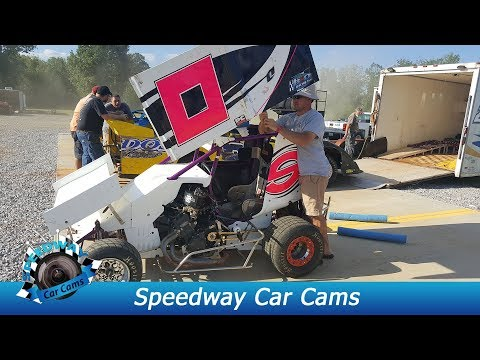#0 Aubrey Black 2nd - Mini Sprint - 8-18-17 Boyd's Speedway - In Car Camera