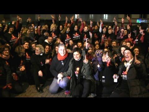 One Billion Rising 2: circa 200 persone in Piazza Cavour contro la violenza sulle donne