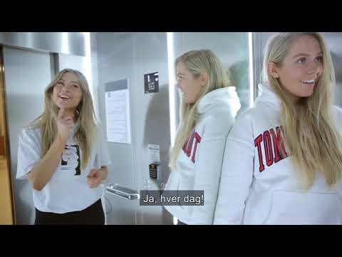 Omvisning på campus Trondheim med Anna og Erica