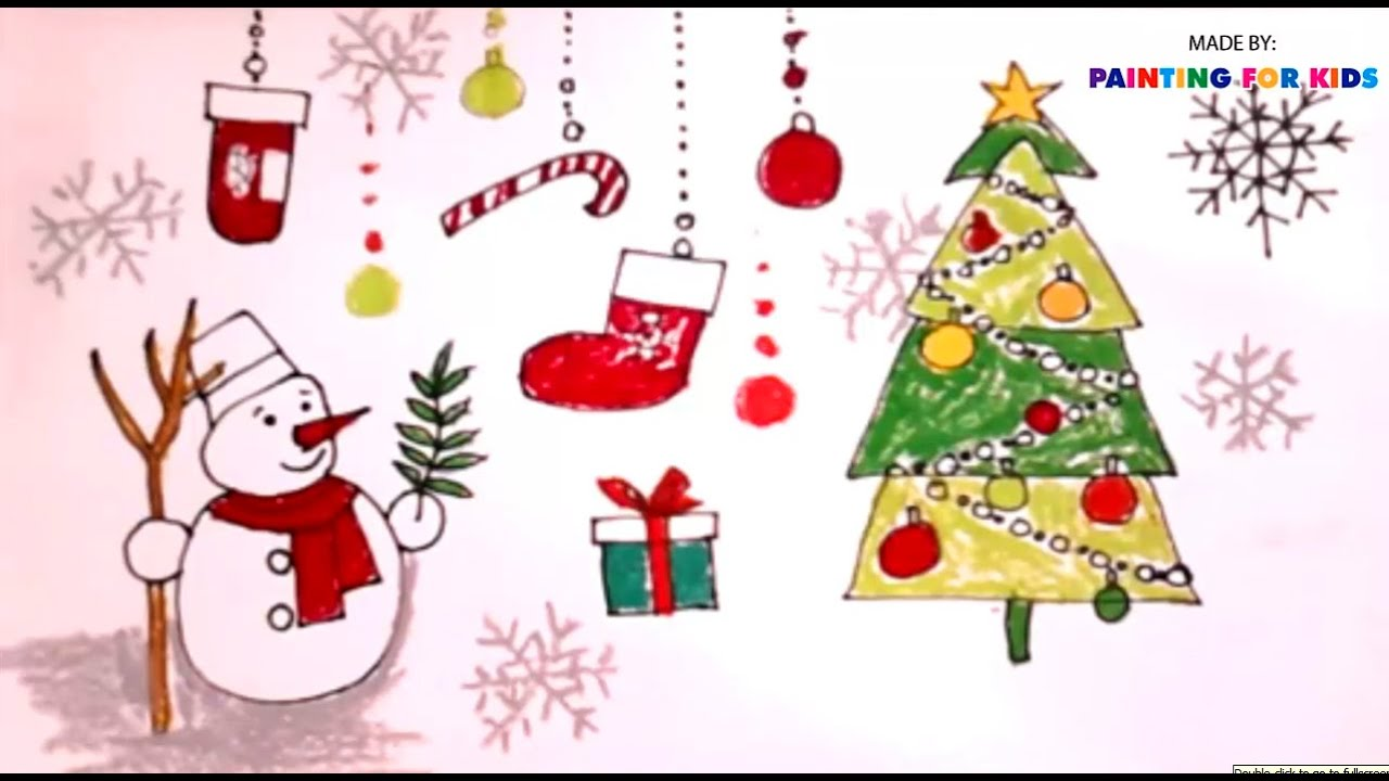 how to draw christmas tree for kids how to paint a christmas tree art for kids - Paint Drawing For Kids