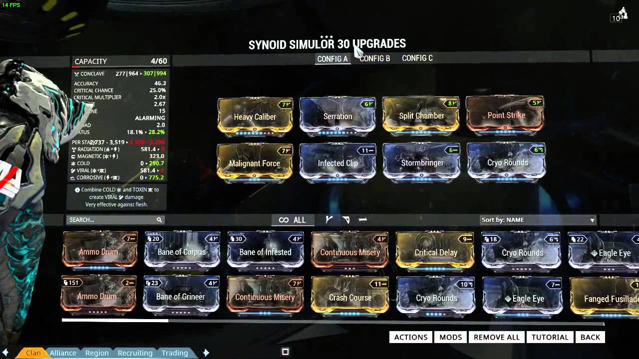 Build Simulor Synoid Warframe