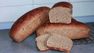 Ржаной хлеб на ржаной закваске Лёгкий рецепт без замеса и раскатки Rye bread with rye sourdough