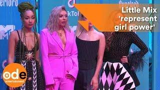 Little Mix 'represent girl power' on MTV EMAs red carpet