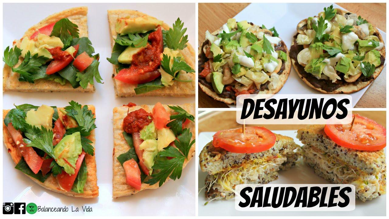 Desayunos Rápidos Y Saludables Salados Youtube