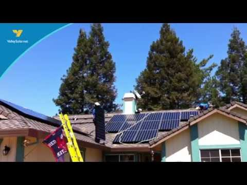 Valley Solar SunPower Invisimount Installation