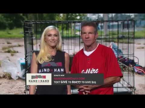 Gwen Stefani and Dennis Quaid Speaking at Hand In Hand Benefit