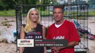 Gwen Stefani and Dennis Quaid Speaking at Hand In Hand Benefit