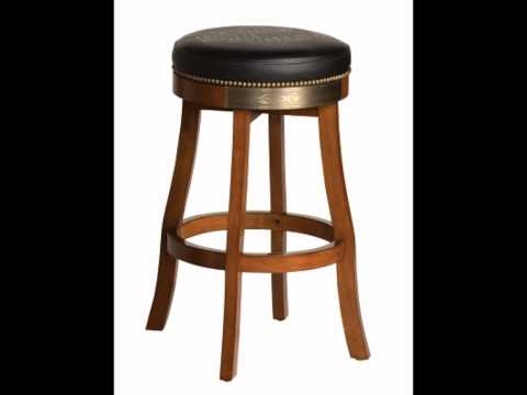 Harley Davidson Bar & Shield Flames Barstool with Heritage Brown Finish