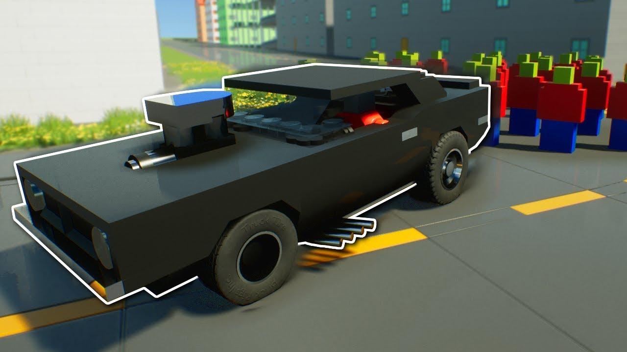 Race Through Zombie Apocalypse Brick Rigs Multiplayer Gameplay