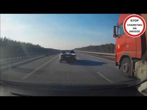 Szeryf -  Jaguar  -  ostre hamowanie na autostradzie