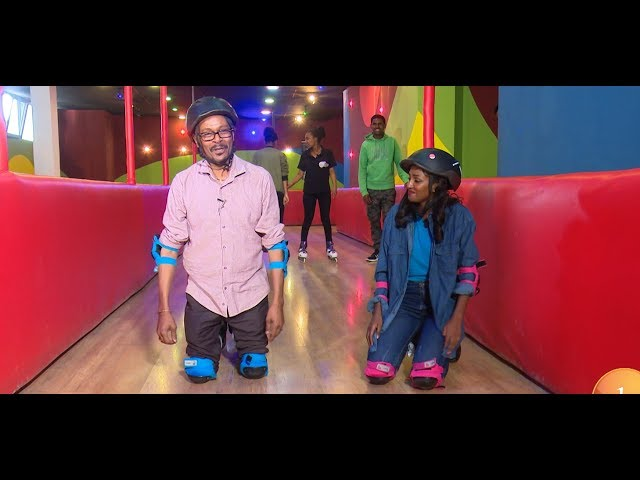 Asfaw And Rakeb Entertaining Skate Game