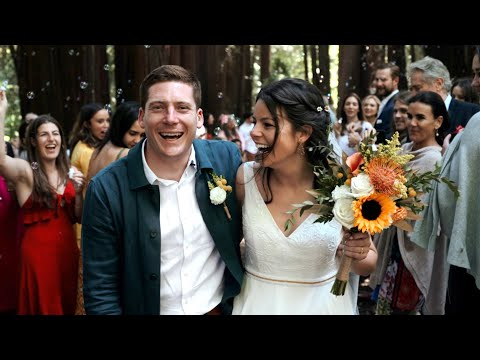 Non-Traditional Folk Wedding Under The Redwoods - Old Mill Park, Mill Valley, CA