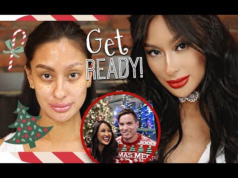 GRWM Husband&39;s Ugly Sweater Christmas Party  Classic Holiday Makeup