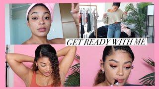 Full GRWM! (hair, makeup, outfits) | jasmeannnn