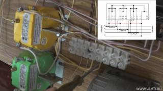 видео Схема подключения электросчетчика и автомата: в однофазную и трехфазную сеть с трансформатором тока и без