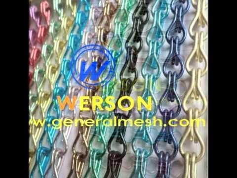 aluminium chain curtains ,aluminium fly screen,metal chain curtain sales   generalmesh