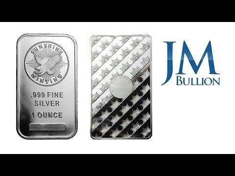 1 oz Sunshine Minting Silver Bar ➜ JMBullion.com