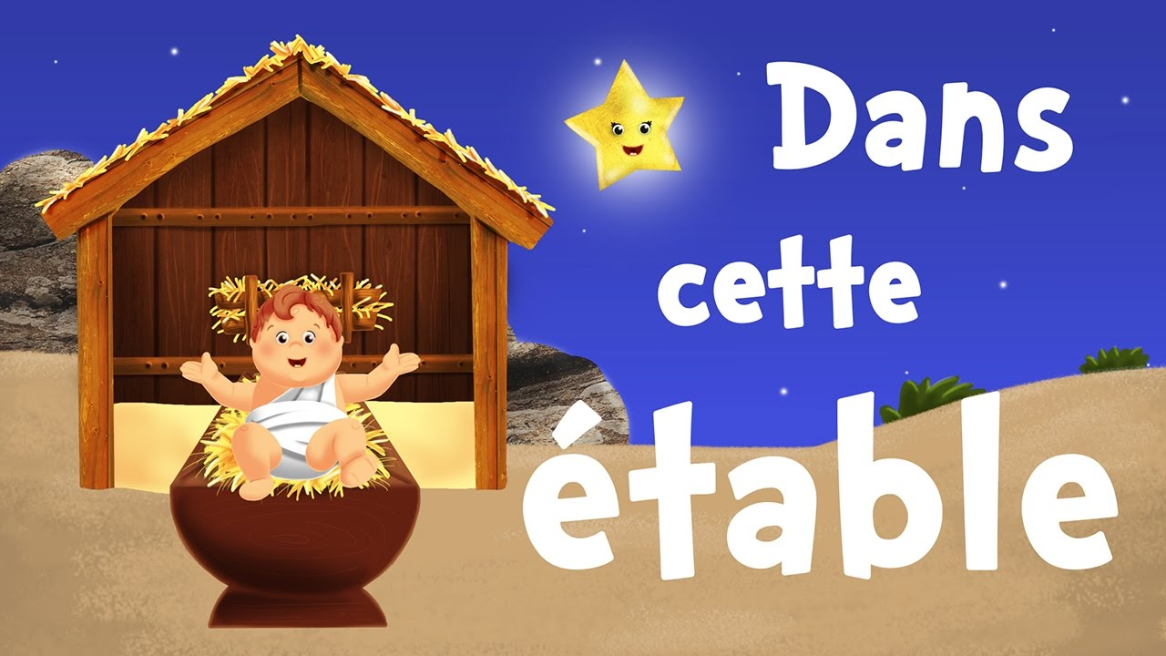 In this stable (christmas song for kids with lyrics to ...