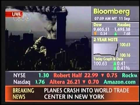 9/11 South Tower Demolition - Live Bond Trading Activity Graph And Data During The Attacks