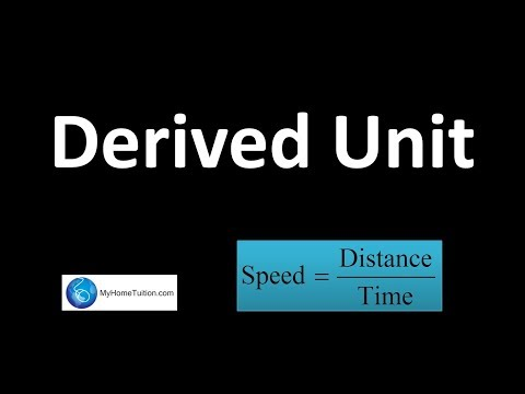 Derived Unit | Physics | Myhometuition.com