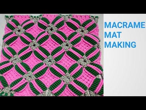 Making of MACRAME MAT