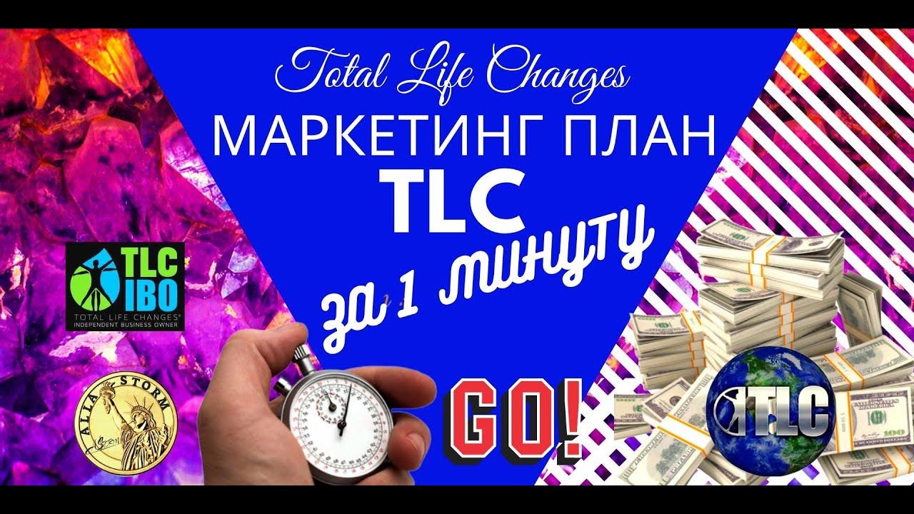 Маркетинг план компании TLC, Total Life Changes за 1 минуту.