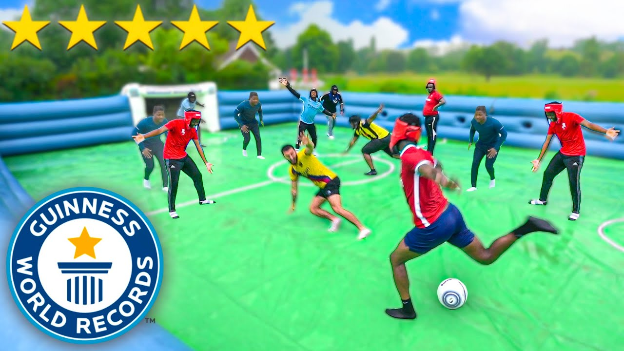 WORLD'S BIGGEST SLIP 'N' SLIDE FOOTBALL MATCH!! ⚽️?