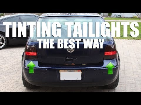 How to PROPERLY Tint Your Taillights