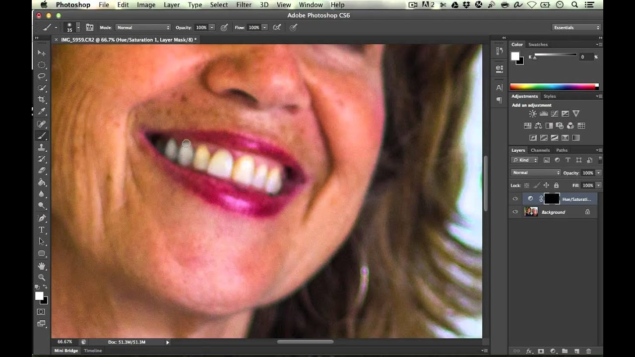 How To Whiten Teeth In Photoshop Cs6 Youtube