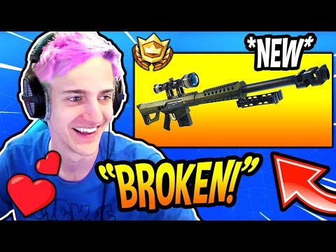 NINJA LOVES THE *NEW* HEAVY SNIPER RIFLE! *OVERPOWERED* Fortnite FUNNY & SAVAGE Moments