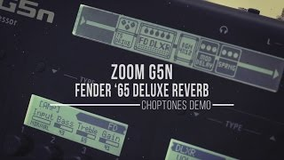 Zoom G5n: Fender '65 Deluxe Reverb Model - Demo & Playthrough