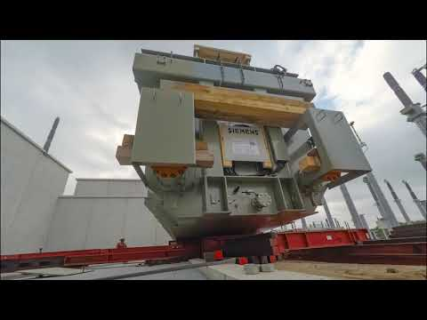 Net op zee Borssele - Timelapse plaatsing transformator landstation Borssele