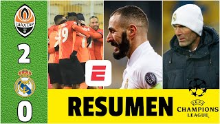 SHAKHTAR 2-0 REAL MADRID Zinedine Zidane y el RIDÍCULO en Ucrania. Sigue vivo | Champions League