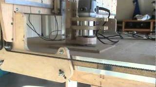 Homemade Cnc Router Blackfoot V4.1 First Cut - Mach3 Roadrunner