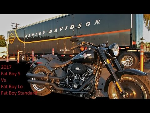"2017 Harley Davidson Fat Boy ""S"" Review & Test Ride │ Vs Fat Boy Lo & Fat Boy Standard"
