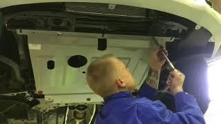 Установка защиты картера двигателя на Kia Rio