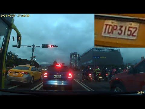 計程車TDP-3152號違規利用左轉專用車道直行