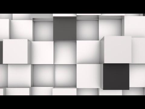 3D Animation Background of Black & White Blocks