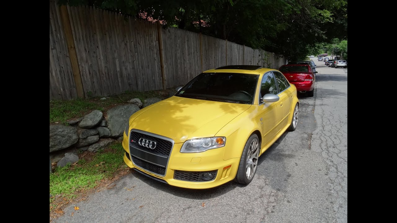 Awesome Yellow Audi RS4!! - YouTube